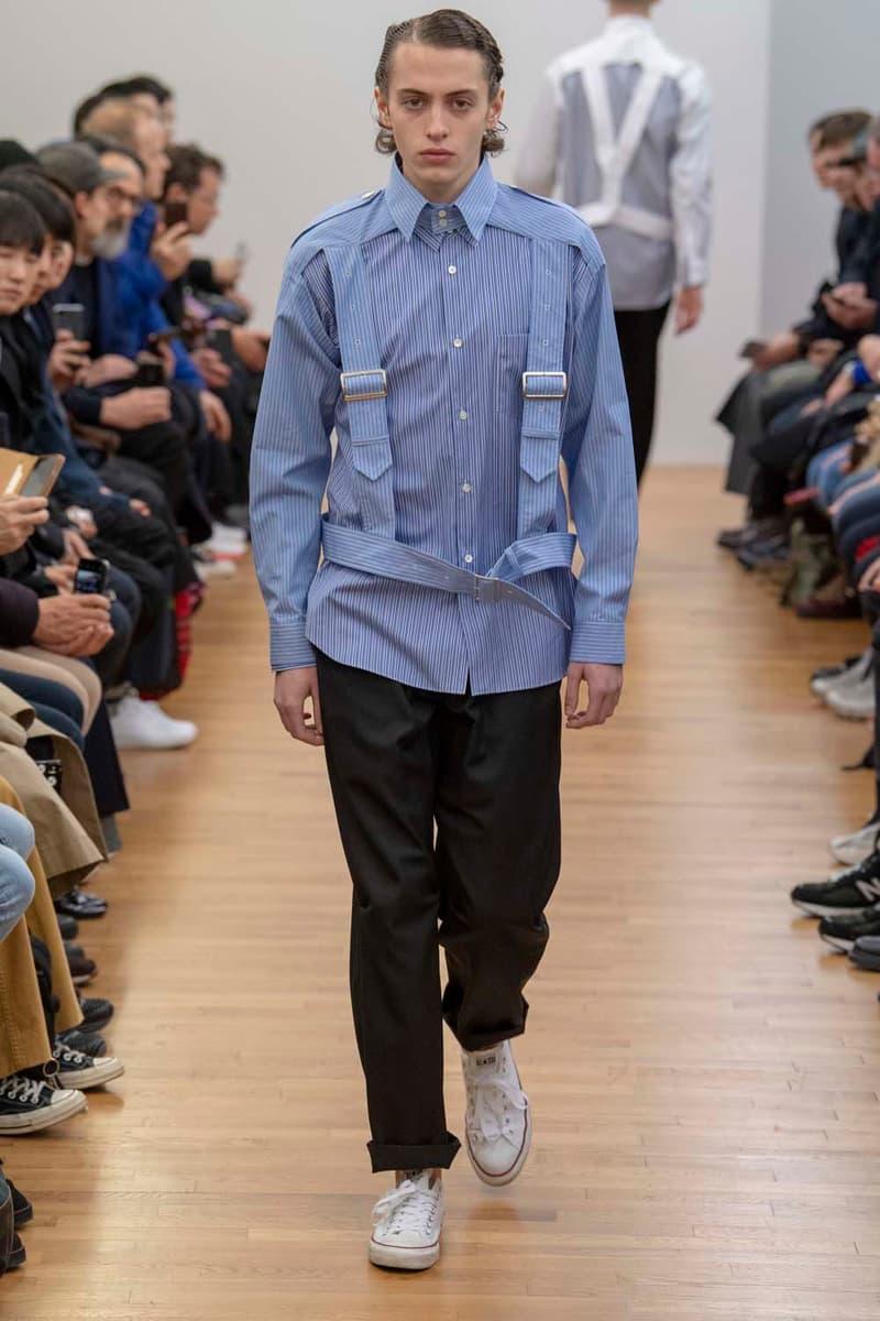 コム デ ギャルソン・シャツ パリコレ パリファッションウィーク 川久保玲 COMME des GARÇONS SHIRT Fall Winter 2019 Collection Paris Fashion Week Mens jacket suiting shirt sweater jacket shorts  Rei Kawakubo