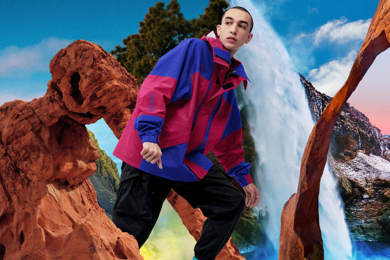 Nike ACG Spring 2019 Collection Lookbook Dri-FIT GORE-TEX Fleece Anorak Jacket purple green burgundy cap pants All Conditions Gear
