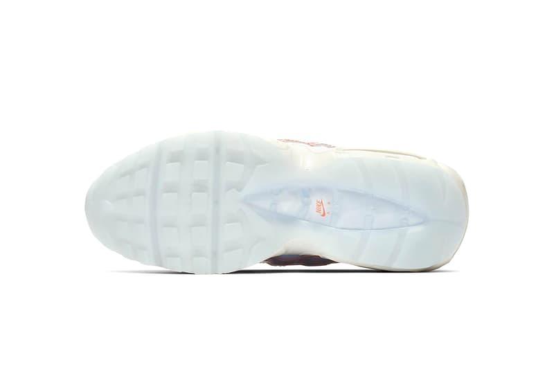 ナイキ エアマックス 半透明 アッパー Nike Launches Women's-Only Translucent Air Max 95 drop release date info images price sportswear half blue orange