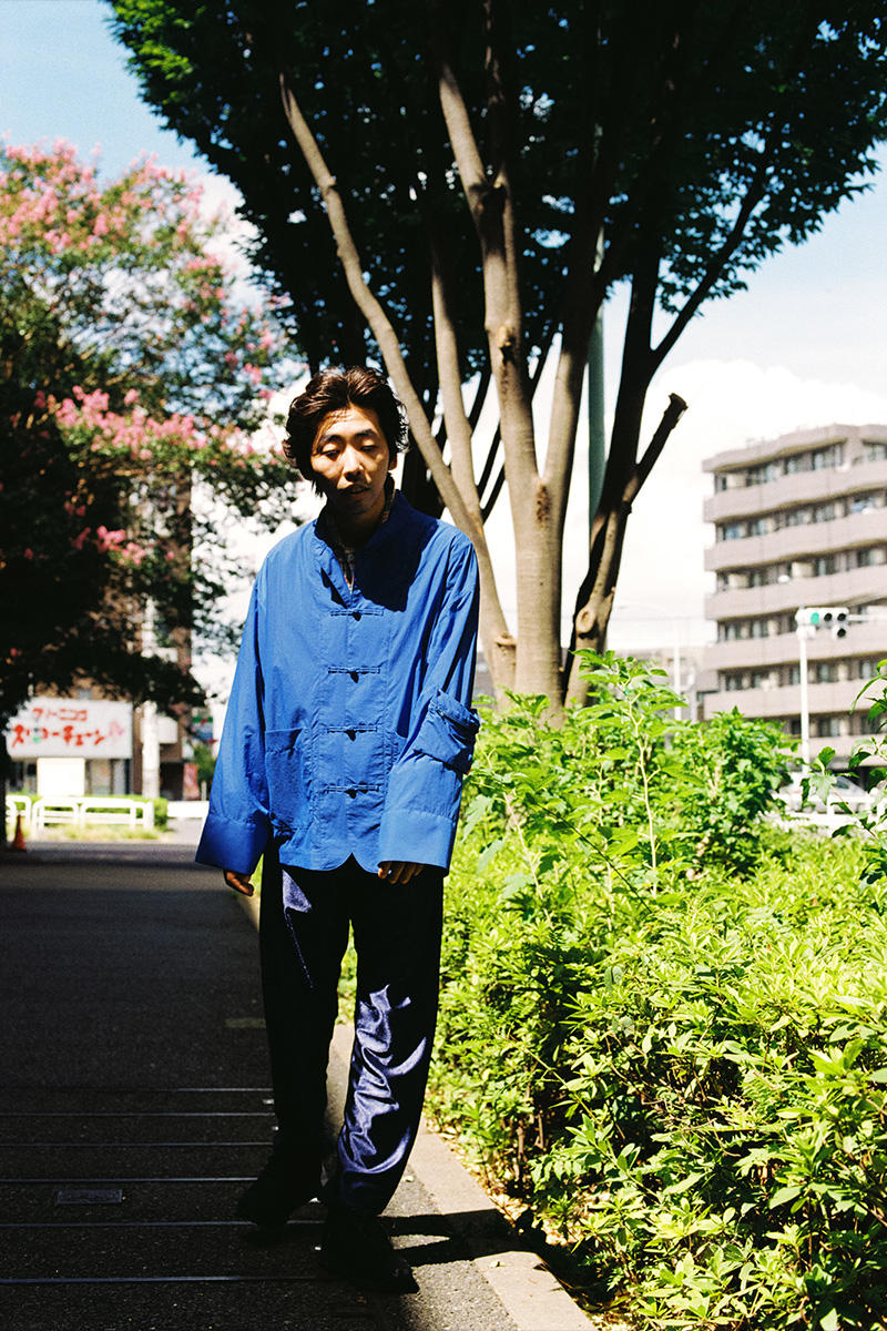フィンガリン ルックブック PHINGERIN Spring/Summer 2019 Lookbook 柄本時生  camouflage vest Japan accessories sweat sweatshirt sweatpants trousers jacket outerwear baghead hats red pants tee tshirt silk tang suit jacket bomber