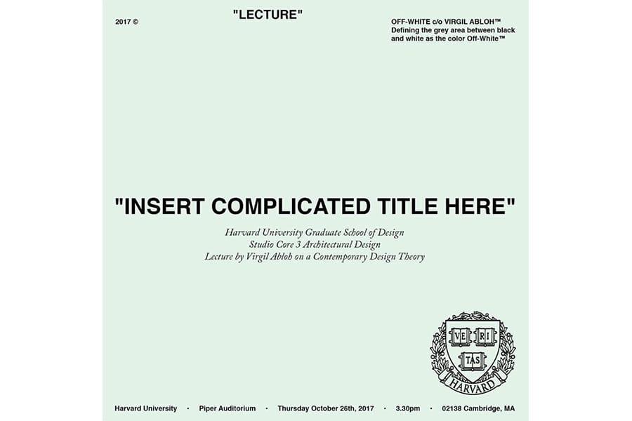 """ヴァージル・アブローのハーバード大学における講義記録の日本語翻訳版『""""複雑なタイトルをここに""""』が販売決定"""