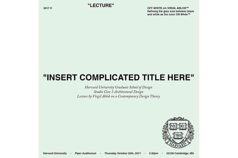 ヴァージル・アブロー 複雑なタイトルをここに オフホワイト ルイヴィトン ハーバード大学 virgil abloh Louis Vuitton insert complicated title here book release  ブック リリース