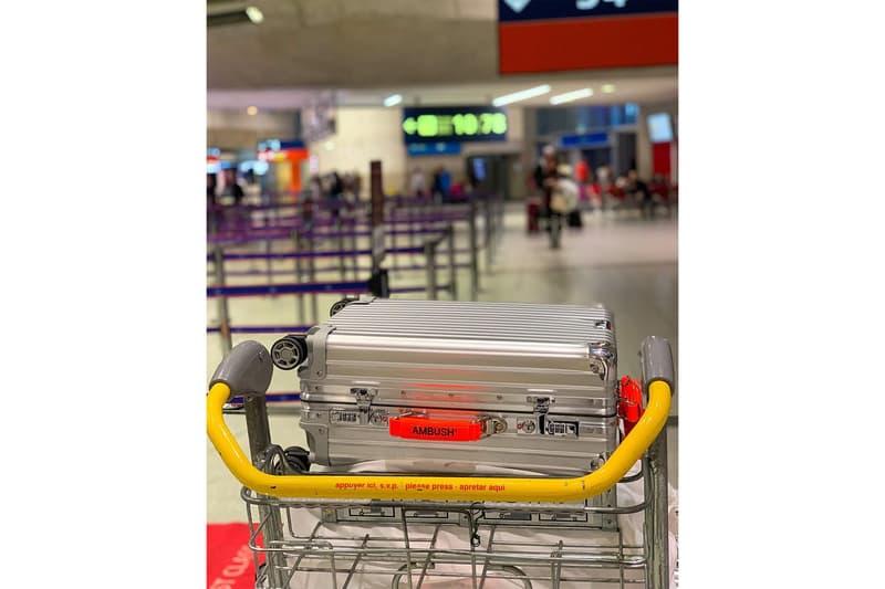 アンブッシュ x リモワ ユン バーバル YOON と VERBAL が AMBUSH® x RIMOWA によるコラボスーツケースをお披露目