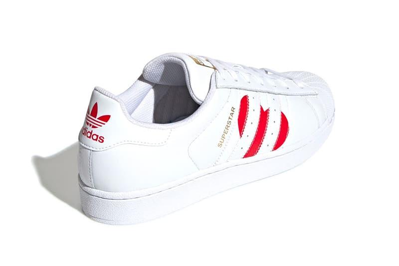 アディダス スーパースター バレンタイン モデル Adidas Superstar Valentines Day 2019 Info sneakers shoe fashion adidas originals Running White College Red Gold Met Date Release