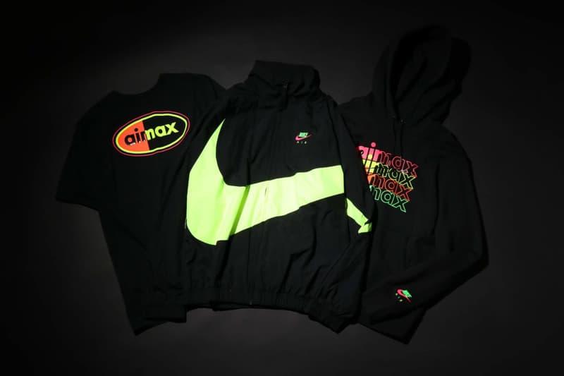 ナイキ atmos アトモス オンライン  東京 トウキョウ ネオン コレクション エアマックス アパレル スニーカー  Nike Tokyo Neon Collection Clothing Air Max 90 98 release date info buy japan colorways jacket zip up big swoosh logo branding atmos