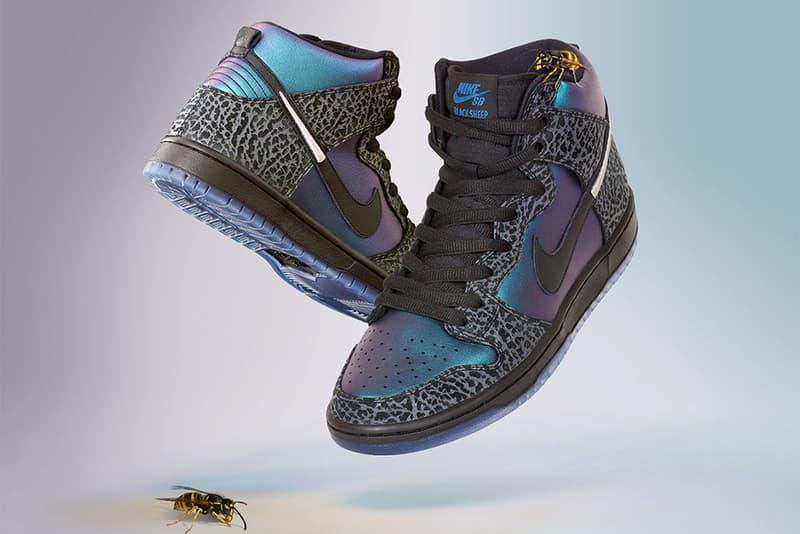 ナイキSb ブラックシープ nbaオールスター シャーロット・ホーネッツ black sheep skate shop nike sb dunk high black hornet 2019 february footwear