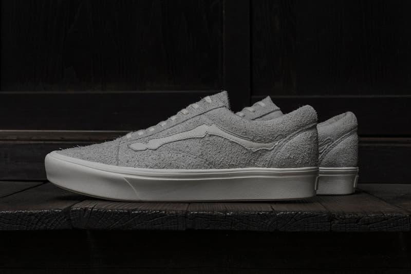 ヴァンズ オールドスクール ヴァンズ ボルト Blends Vans Vault Old Skool COMFYCUSH LX スニーカー First Look Sneaker Bone Jazz Stripe hair suede black grey