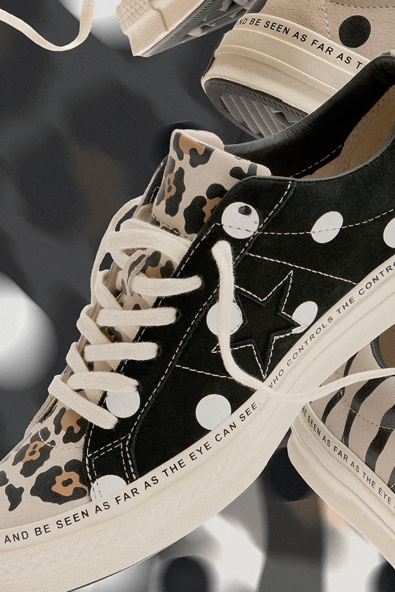 ブレインデッド コンバース ワンスター  コラボスニーカー Brain Dead x Converse One Star Spring/Summer 2019 First Look Release Details Animal Print Zebra Polka Dot Cheetah Leopard First Look