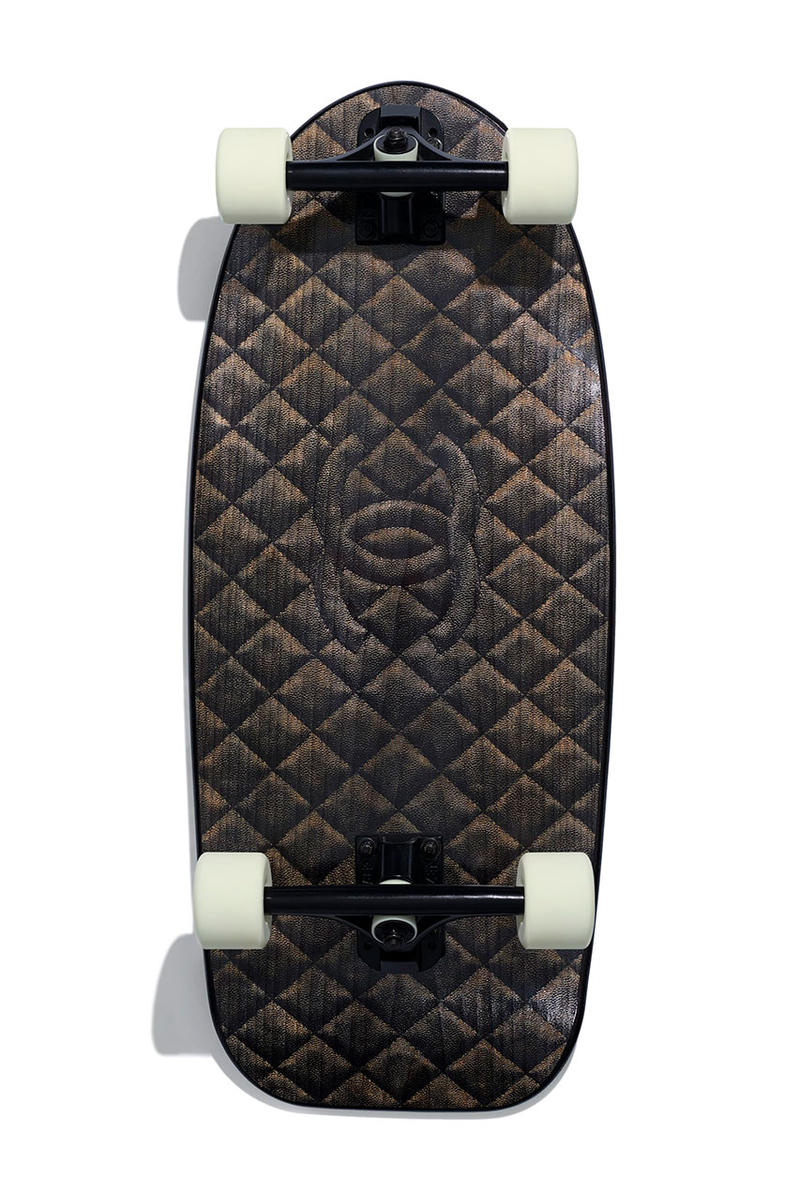 シャネル サーフボード スケートデッキ カール・ラガーフェルド Chanel Drops Lush SS19 Surfboard Skate Deck spring summer 2019 release date info buy accessories double c logo karl lagerfeld