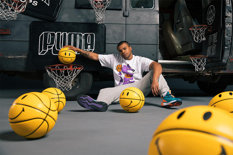 チャイナタウン マーケット プーマ オールスター Chinatown Market x Puma Hoops NBA All-Star weekend Collab collaboration puma lab footlocker exhibition pop-up charlotte t-shirts hoodies tote bags hats mad max van