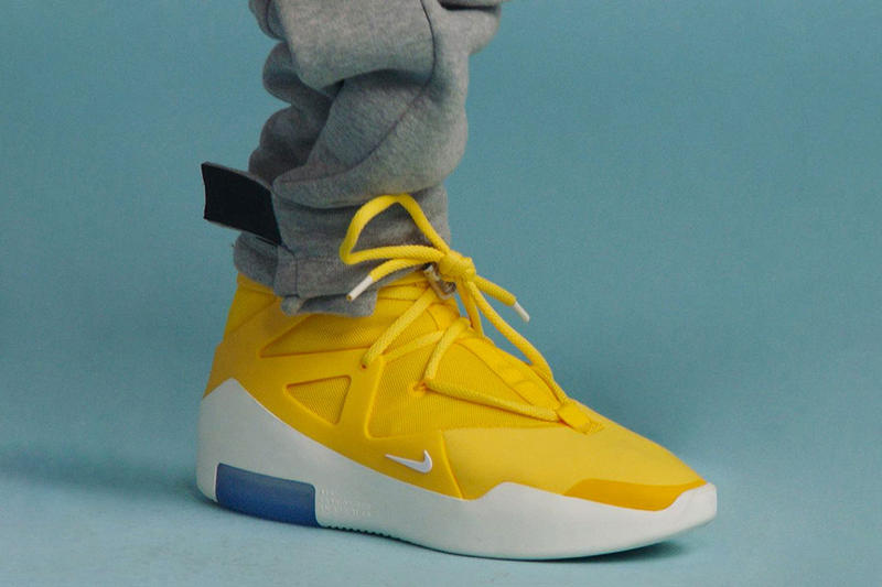 """Nike Air Fear of God 1 """"Amarillo"""" Color Release yellow date leak info buy drop"""