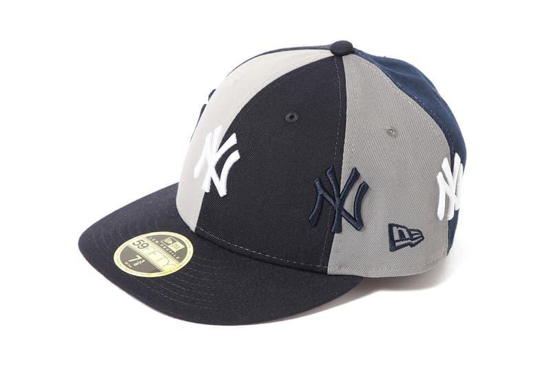ビームス ニューエラ ニューヨーク・ヤンキース キャップ ベースボールキャップ BEAMS new era yankees collab crazy panel hat cap flatbrim branding logo patchwork release date drop buy march 2019