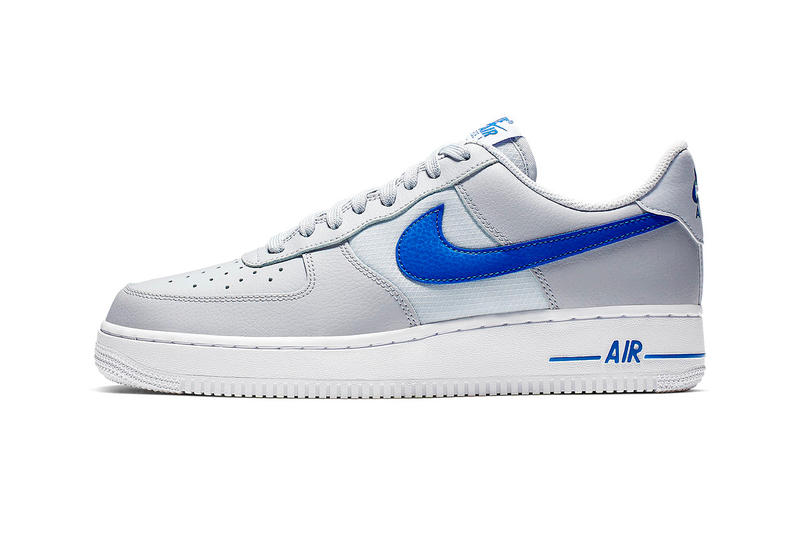 ナイキ レザー メッシュ スニーカー Nike Mixes Leather and Mesh on New Air Force 1s black red white volt grey blue release info images price footwear