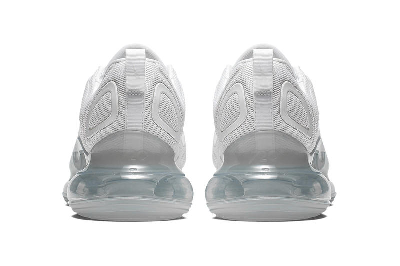 ナイキ エアマックス 最新モデル ホワイト スニーカー Nike Air Max 720 Gets a Metallic White Makeover images release drop date info price footwear sportswear