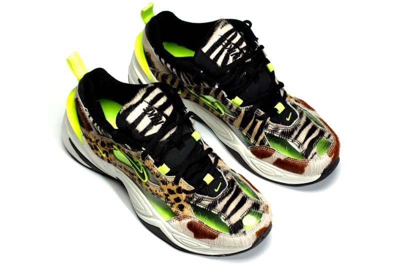 ナイキ M2K テクノ アニマル スニーカー 限定 Nike M2K Tekno Animal Print Volt Dad Shoes 5000 Pairs Limited Edition CI9631-037 Closer First Look Details Release