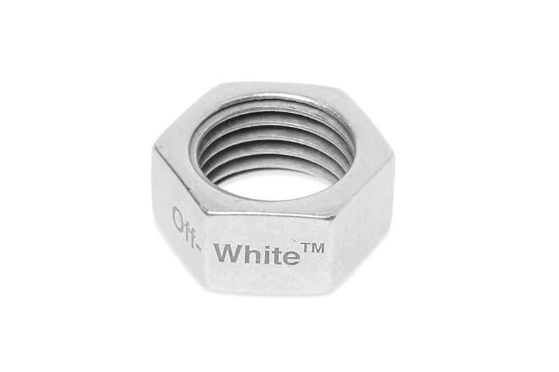 オフホワイト ヴァージル・アブロー リング シルバー Off-White™ Hex Nut Ring Release Info fashion virgil abloh accessories jewelry