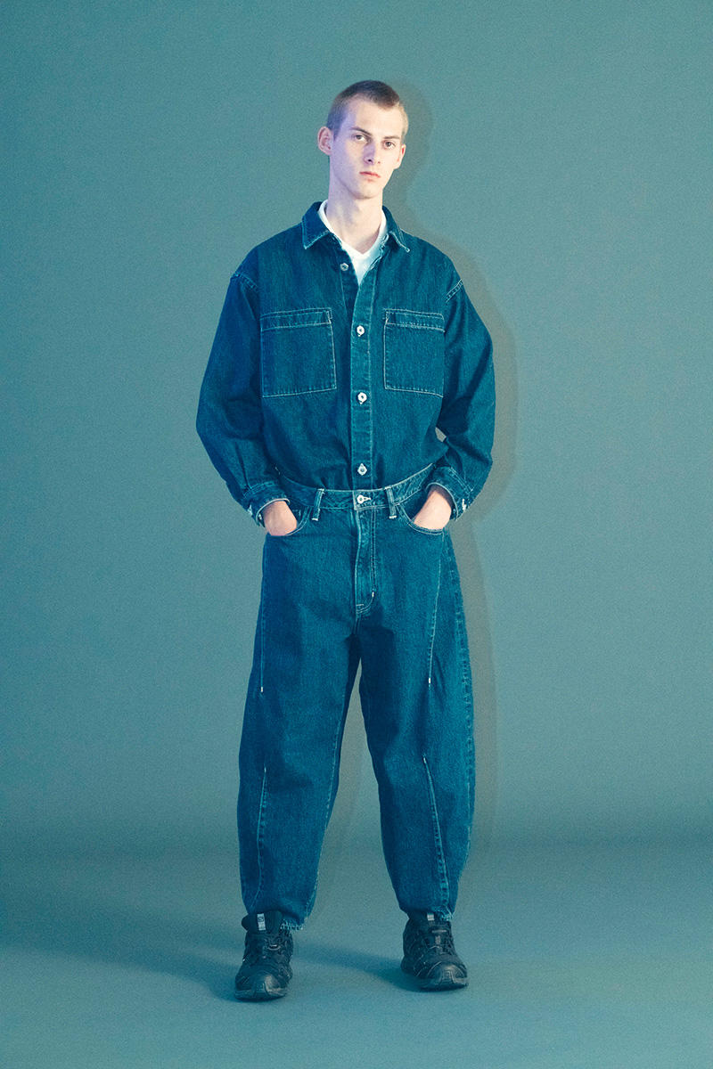 ロトル ルックブック ROTOL Spring/Summer 2019 Lookbook japan workwear americana 3m jeans stitch detailing kimono haori jeans denim orange neon earthy tone coverall outwear jacket tshirt shirt tailoring tailor