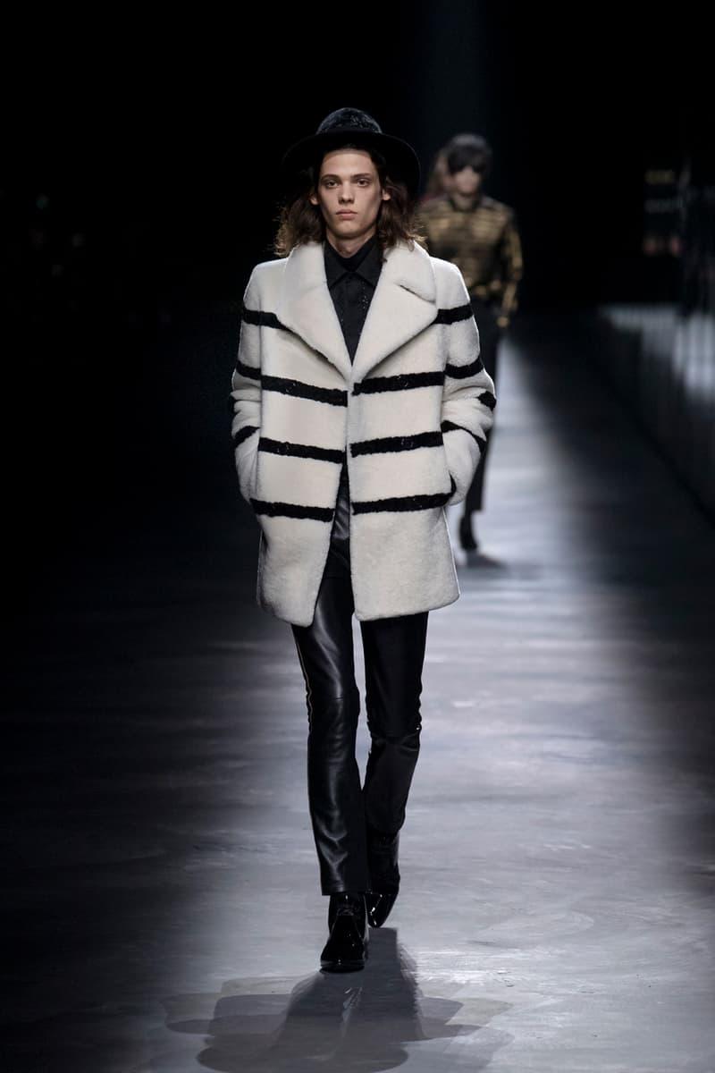 サンローラン SAINT LAURENT 2019年秋冬 ランウェイ コレクション ルック メンズ コート アウター オンライン デザイナー パリ