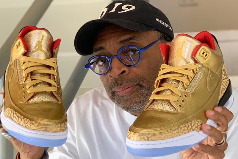 スパイク・リーが第91回アカデミー賞で着用するナイキ エアジョーダン3を公開 spike lee air jordan 3 tinker gold oscars sneakers footwear awards ceremony entertainment custom