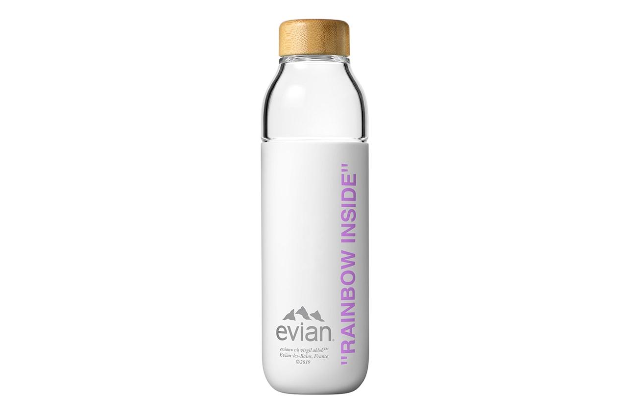 ヴァージルアブロー エビアン 水筒 ボトル ソマ Virgil Abloh Evian Soma Refillable Water Bottle refile cup filtration design glass wood