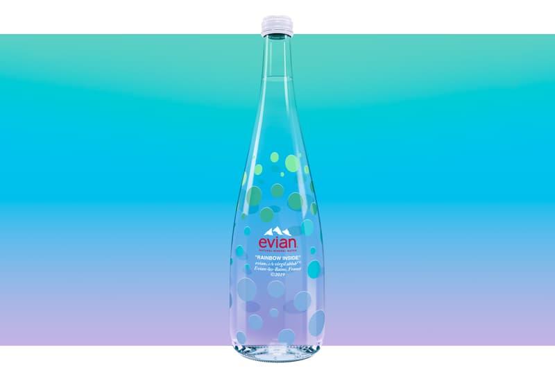 ヴァージル・アブロー エビアン ガラス ボトル evian Virgil Abloh 750ml 発売日 オンライン 取り扱い リリース