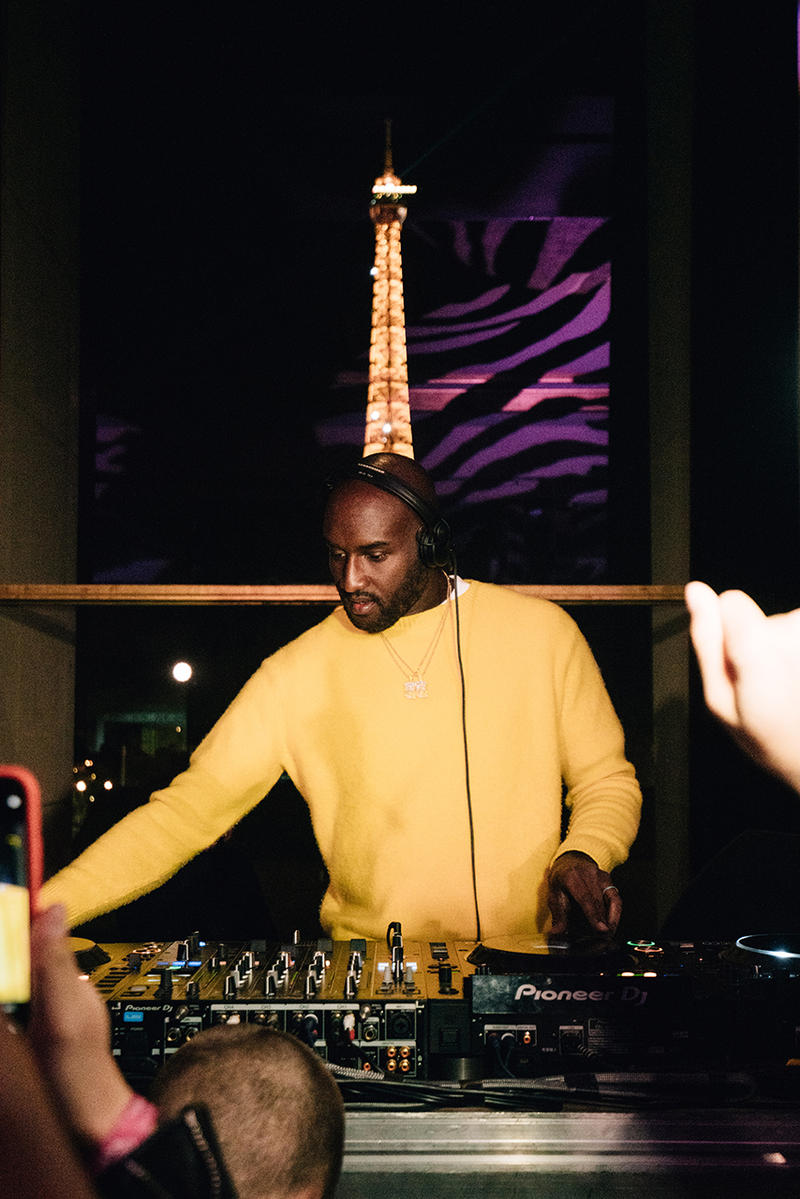 ヴァージル・アブロー  エビアン virgil abloh evian water launch party one drop can make a rainbow inside bottle somos release drop buy sale france paris dj set