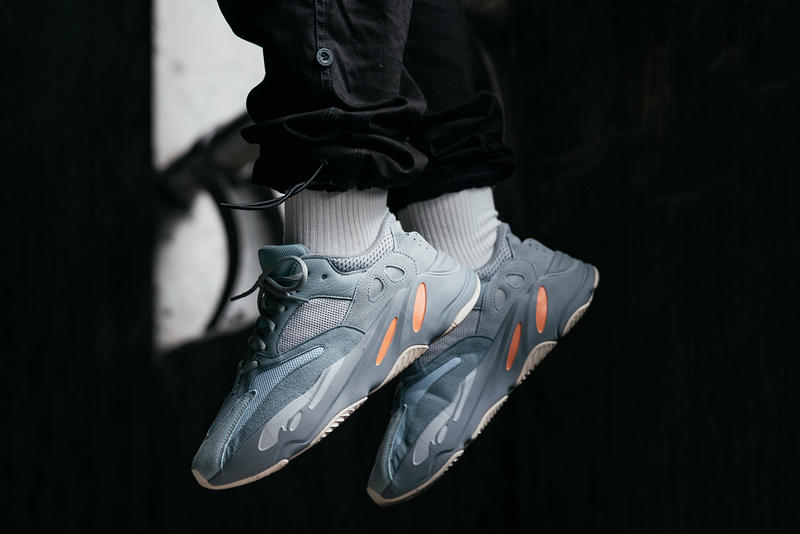 イージーブースト yeezy boost 700 カニエウェスト  アディダス  発売日 オンライン inertia on foot feet release date info drop buy colorway randy galang march 2019 style grey runner kanye west