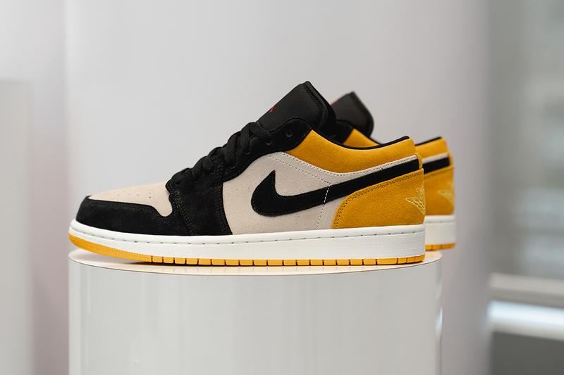 air jordan 1 low jordan brand 2019 spring footwear skateboarding sail gym red university gold black white yellow hyper pink white black gym red
