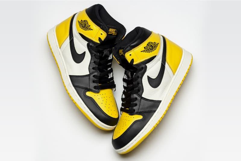 エアジョーダン 1 イエロー トゥ つま黒 ナイキ nike jordan 1 air yellow toe モデル 発売 スニーカー シューズ バッシュ