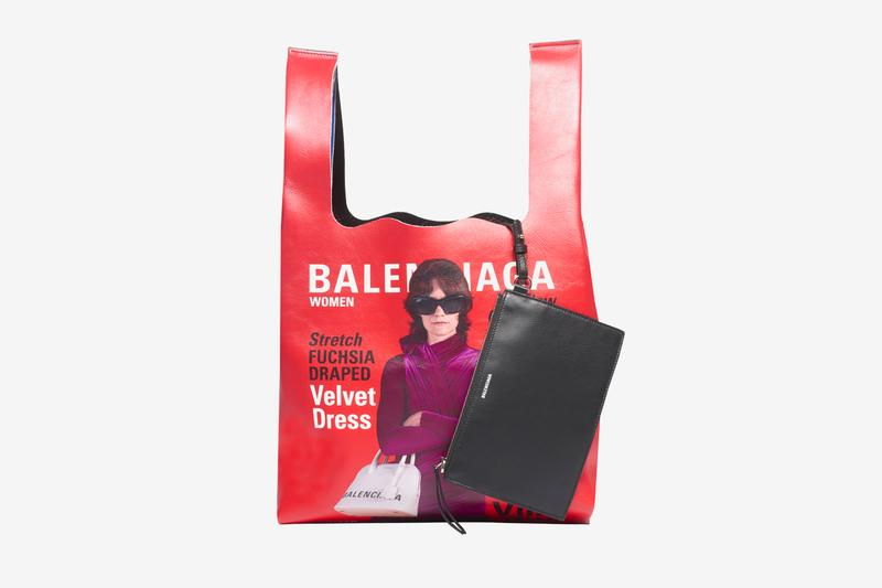 バレンシアガ ショッピングバッグ Balenciaga Campaign Super Market Tote Release Info two-toned red blue calfskin leather 5788321CYBN6064 made in Italy