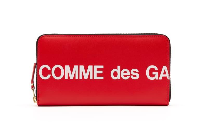コム デ ギャルソン 財布 ウォレット COMME des GARÇONS Red Black Logo Wallets Release info drop date I.T rei kawakubo dover street market CDG huge logo collection supreme