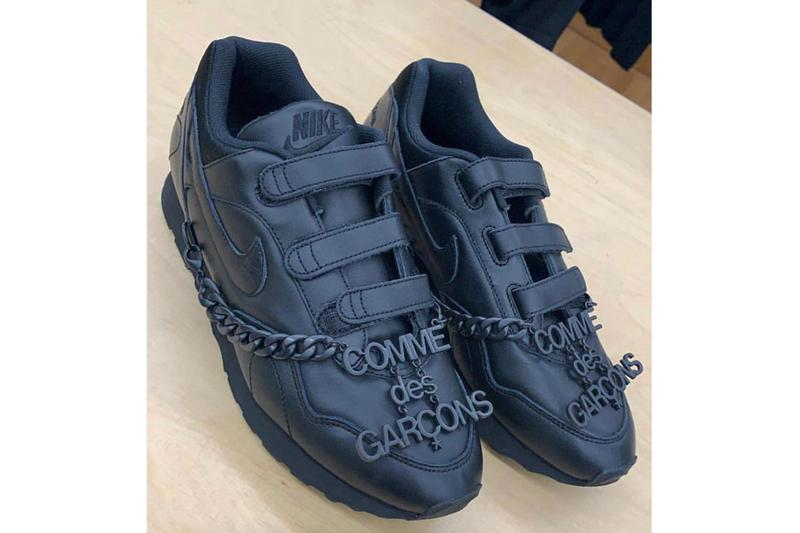 コム デ ギャルソン x ナイキ アウトバースト Outburst Nike x COMME des GARÇONS Velcro Sneaker first look release info stockist teaser fall/winter 2019 fw19 black tonal colorway