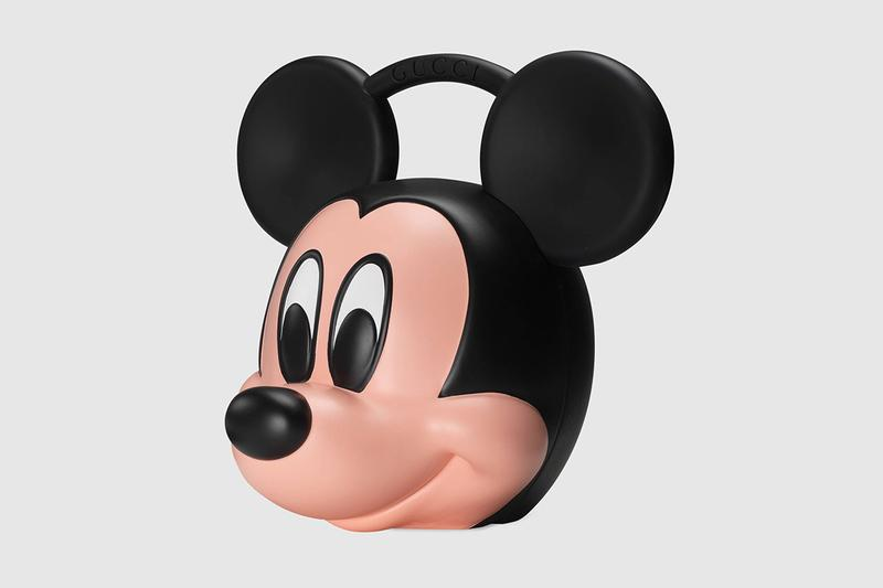 Gucci がミッキーマウスの顔をそのままバッグにした強烈なプロダクトをリリース Gucci x Disney Mickey Mouse 3D Printed Plastic Bag case spring summer 2019 release collection runway ss19 paint head