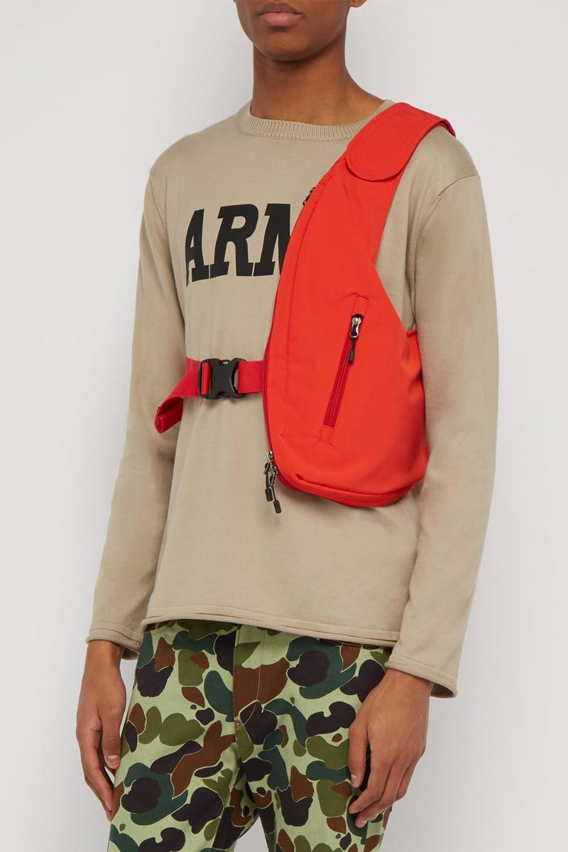 ジュンヤ ワタナベ マン コムデギャルソン  ショルダーバッグJUNYA WATANABE Technical harness Crossbody Bag Red Black polyester cotton Velcro shoulder strap matches fashion