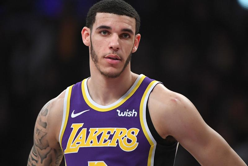 Lonzo Ball Big Baller Brand Tattoo Cover up Nike Switch Los Angeles Lakers