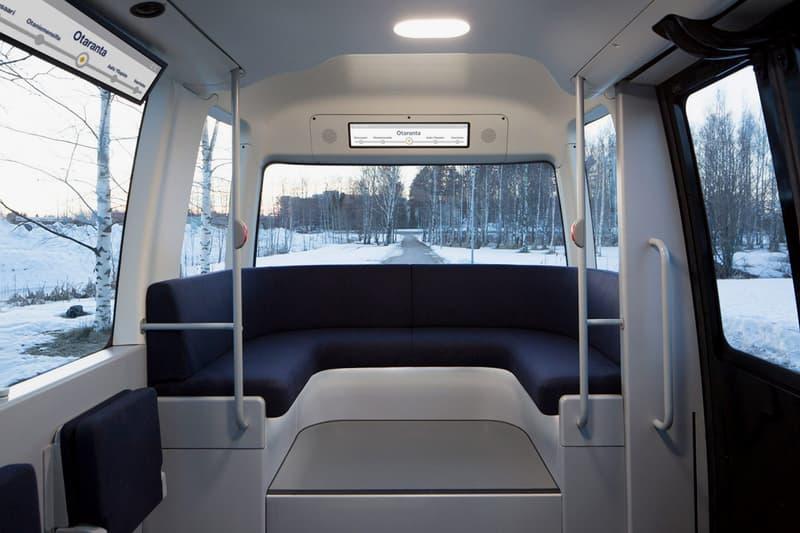 """良品計画 無印良品が北欧フィンランドにて""""自動運転バス""""の実用試験運行を開始 Muji Sensible 4 Shuttle Bus Autonomous Driving Gacha General Public Finland Finnish Lapland Testing Finished Product Sensor Technology Maps Clean Minimalistic Driverless"""
