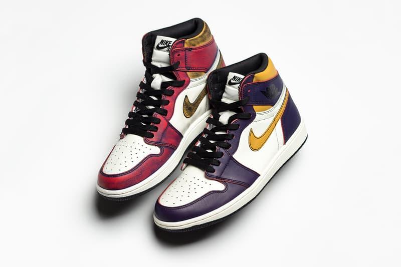 レイカーズからブルズへと変化するナイキSB x エアジョーダン1 nike sb air jordan 1 retro high og court purple university gold chicago 2019 may footwear jordan brand