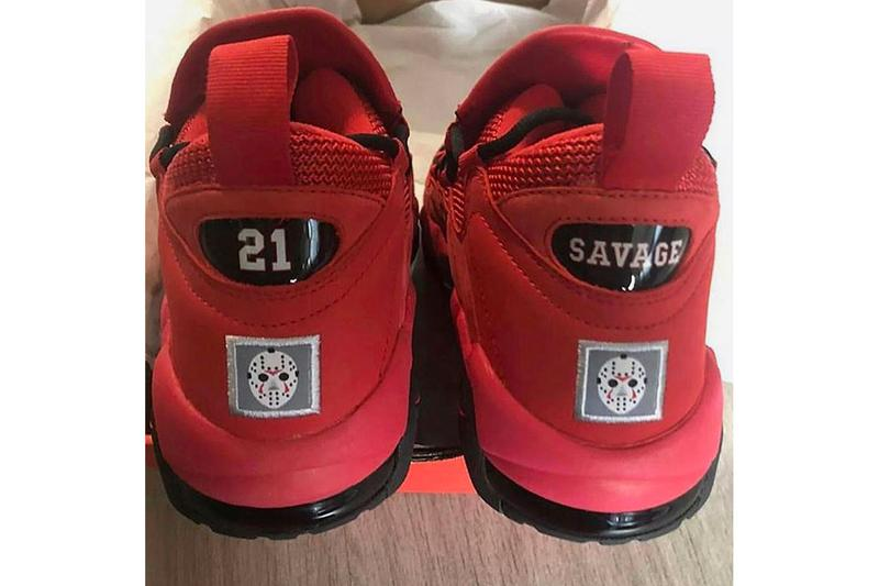 21サヴェージ ナイキ Nike 21 Savage Air More Money Collab First Look red black issa
