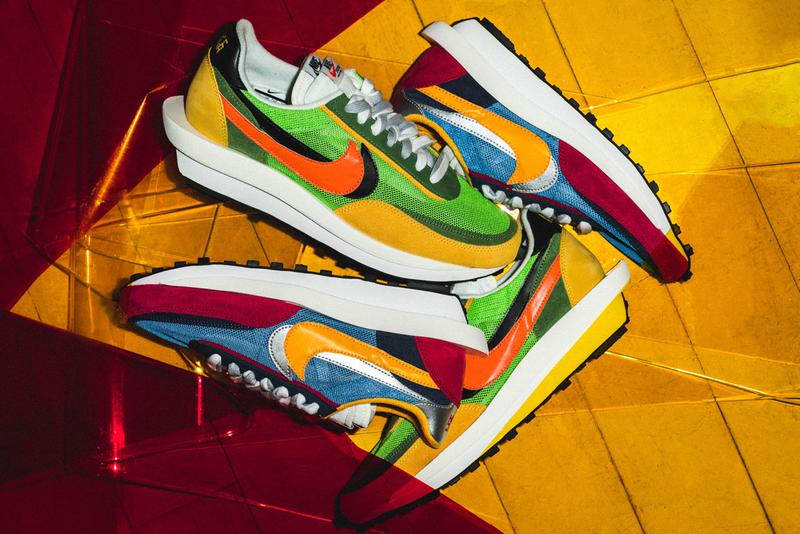 サカイナイキ sacai  Nike 最新 コラボ シューズ LDWAFFLE ディテール クローズアップ