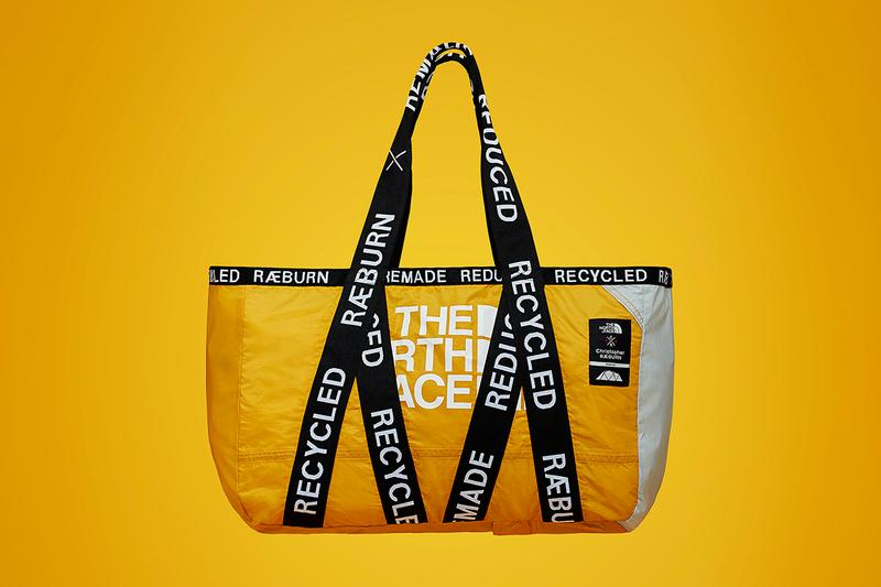 The North Face TNF Christopher Raeburn RÆBURN Unique Patina Pattern Design Bags Duffle Tote Reduce Man Made Waste Spring Summer 2019 Collection One of One