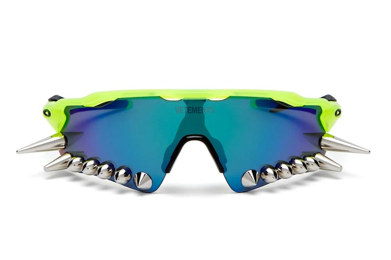 ヴェトモン オークリー サングラス Vetements Oakley Spike Glasses 200 D 400 Iridescent Acetate Neon Spring Summer 2019 SS19 Engraved Logo USA Sports Sunglasses