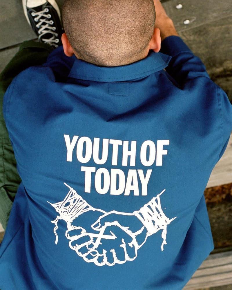 ノア ブレンドン・バベンジン ユース・オブ・トゥデイ Youth of Today x NOAH Collaboration Announcement hardcore punk band new york streetwear rock & roll release info