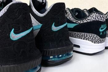 "Picture of atmos x Nike による ""Clear Jade"" カラーデザイン採用の LeBron 16 Low が間もなく発売か"