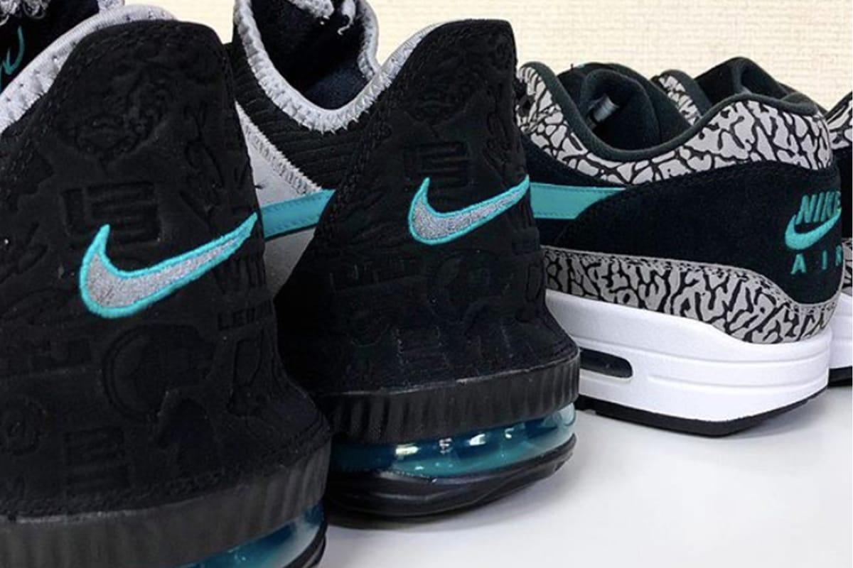 "atmos x Nike による ""Clear Jade"" カラーデザイン採用の LeBron 16 Low が間もなく発売か"