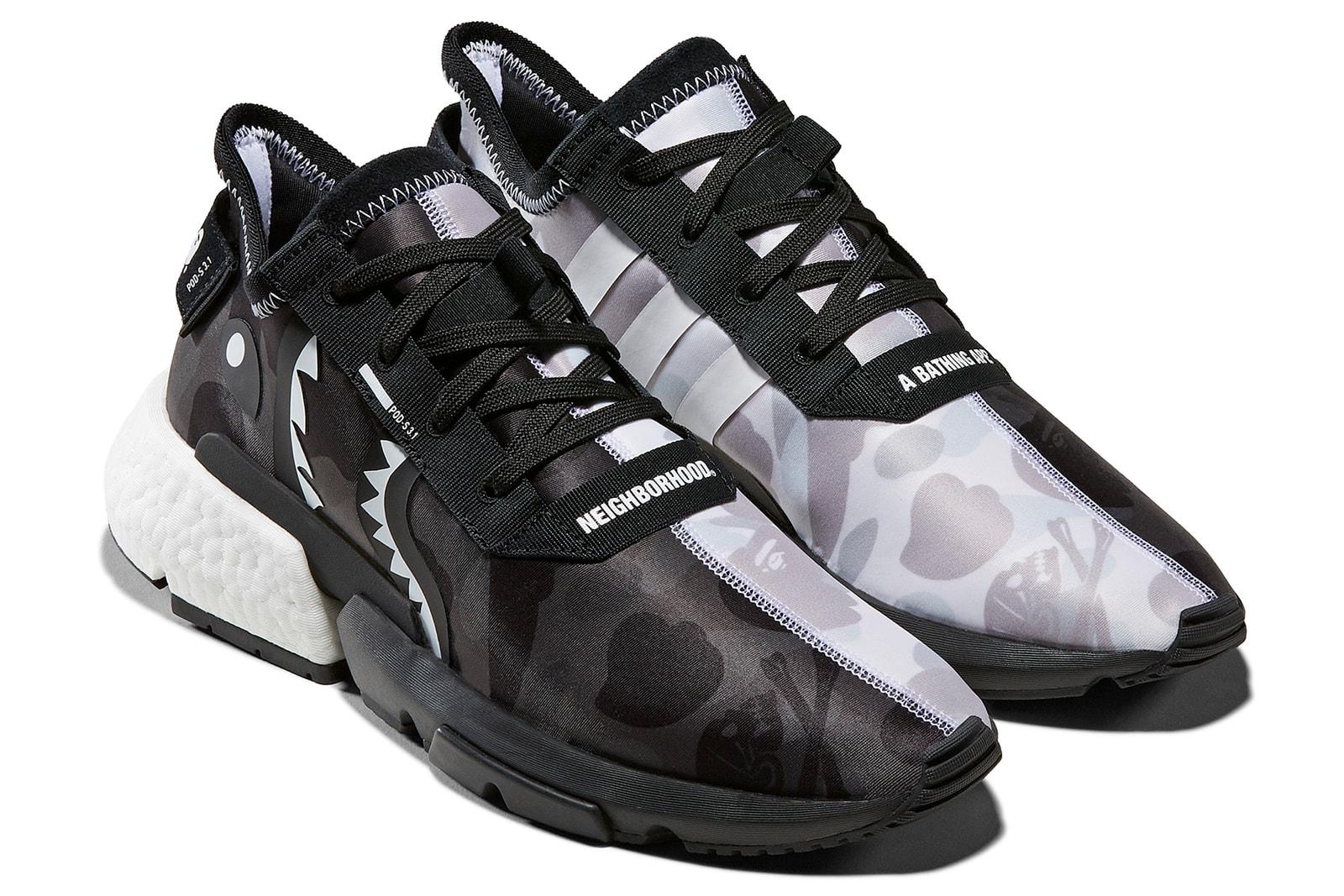 アディダス オリジナルス ア ベイシング エイプ ネイバーフッド コラボ モデル 発売 adidas Originals by A BATHING APE®  NEIGHBORHOOD nmd pod 3.1