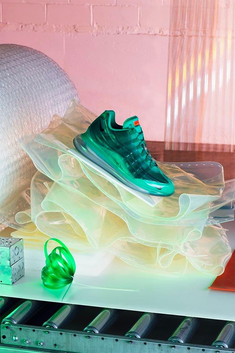 ナイキ エアマックス 720/95 ヘロンプレストン バイ ユーにクローズアップ Heron Preston Nike By You Air Max 720/95 Closer Look red black blue pink green