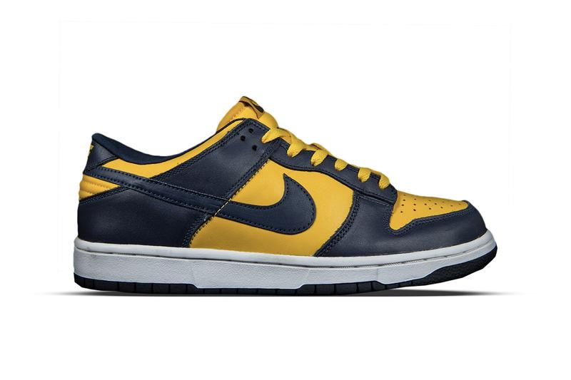 ナイキ ダンク ヴァージル・アブロー オフホワイト Nike x Off-White™ Dunk Leather Low Virgil Abloh 2019 Collaboration Leak Rumor Release Information Drops First Look Closer Look University Gold Midnight Navy White University Red Wolf Grey Pine Green October