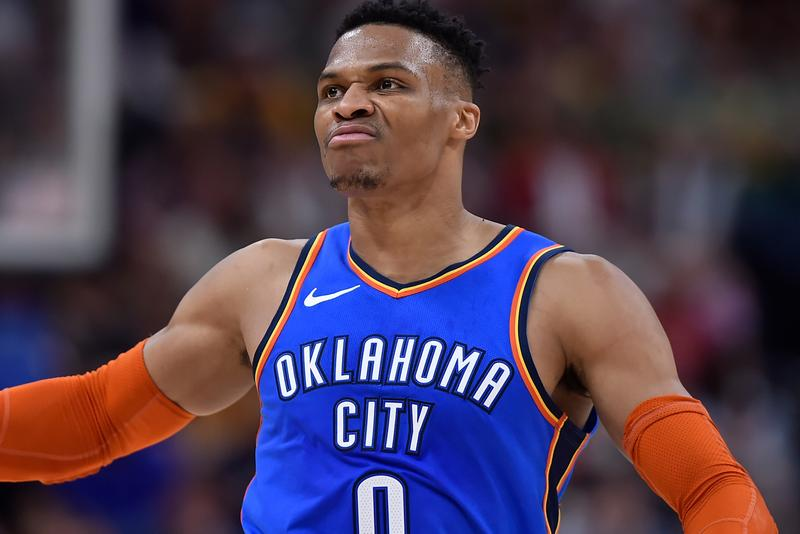 故ニプシー・ハッスルに捧ぐ NBA ラッセル・ウェストブルックの歴史的記録 Russell Westbrook Scores Second Ever 20-20-20 NBA History Nipsey Hussle NBA national basketball association Oklahoma City thunder okc