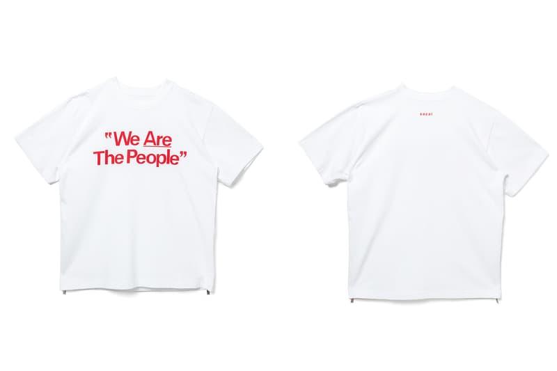 サカイ sacai が阪急メンズ東京店の移設リニューアルオープンを祝して限定Tシャツを販売