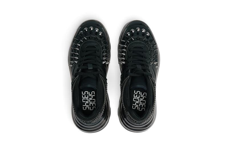 トリプルS バレンシアガ balenciaga Demna Gvasalia デムナ・ヴァザリア Shoes 53045 bump'air black gothic colorway release date spike chain stud metal release date info buy